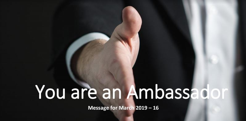 You are an Ambassador - Upon High Places - GC Youth